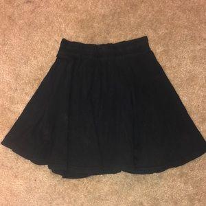 Black, flowy Charlotte Russe skater skirt